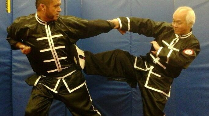 master angel velazquez training kung fu with seming ma